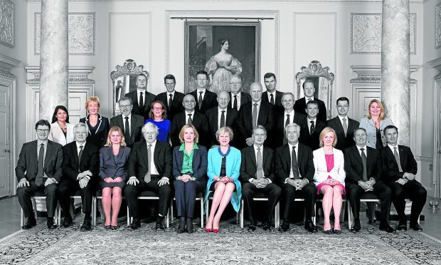 There are only seven other women in Theresa May's cabinet, as the Government faces calls to guarantee more female representation at Westminster