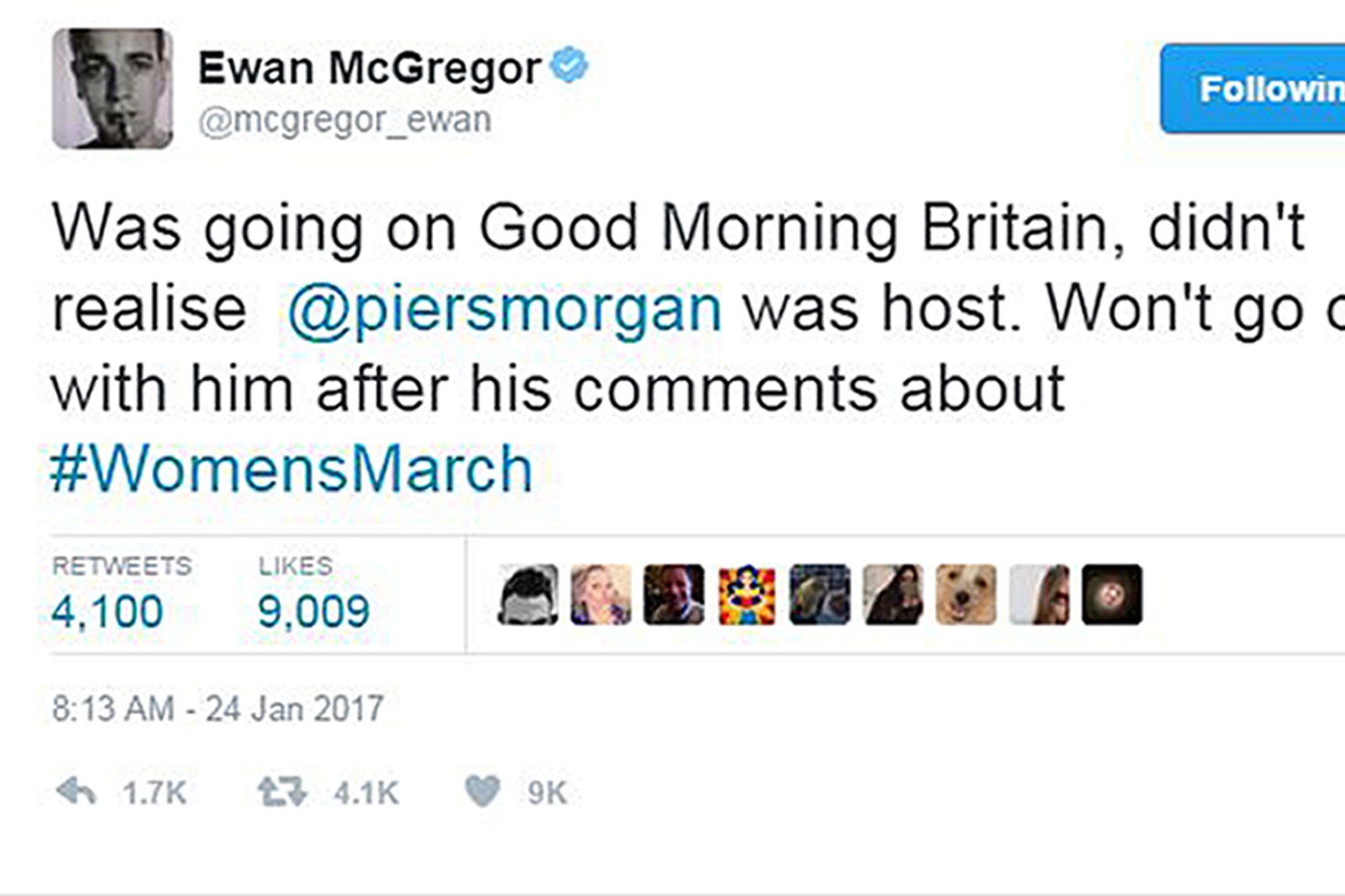 (Ewan McGregor/ Twitter/PA Wire)
