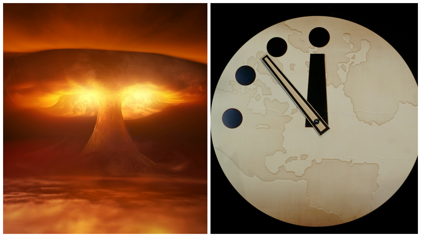 The Doomsday Clock charts how close the world is to 'armageddon'