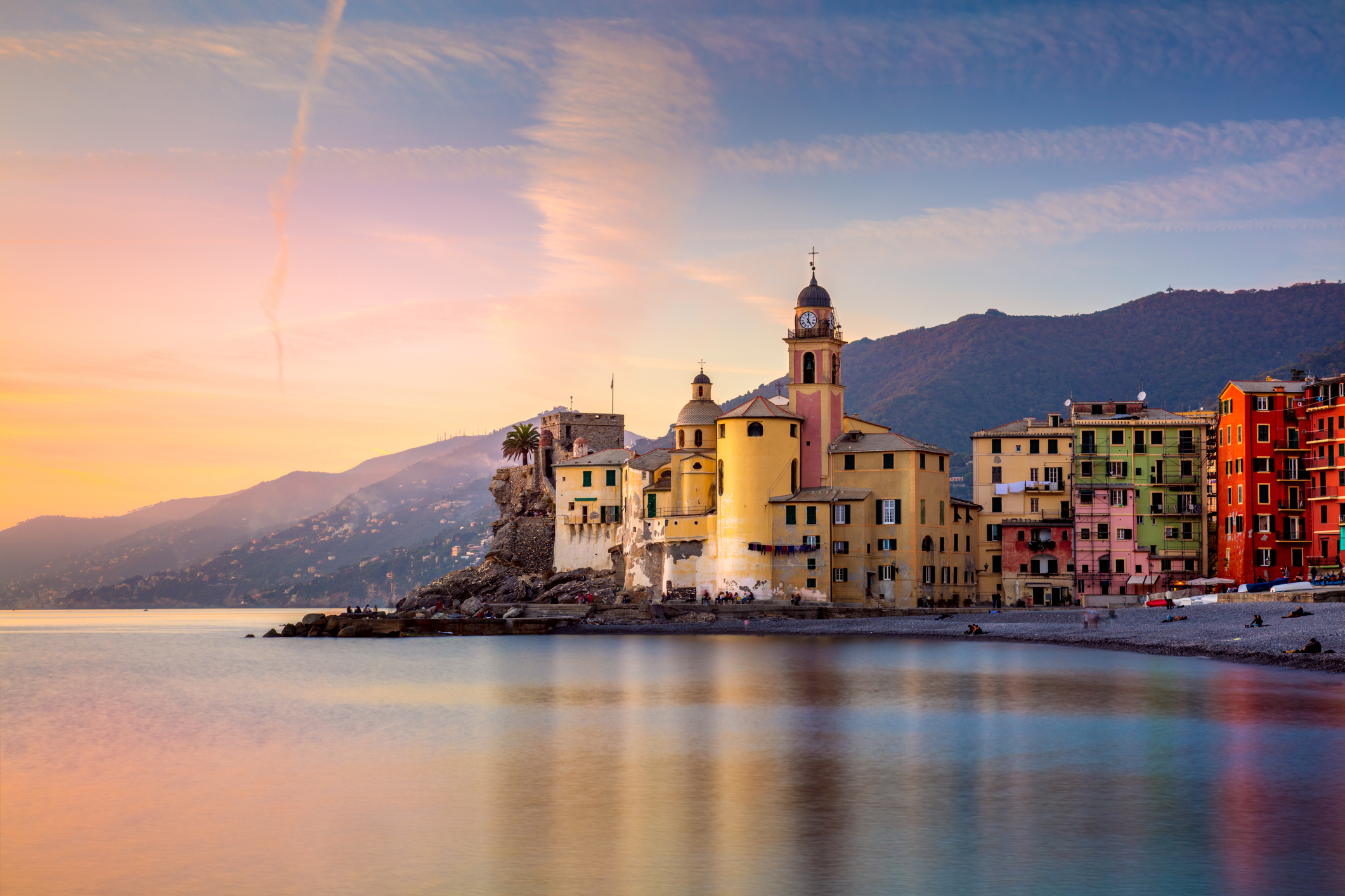 Beautiful Small Mediterranean Town at the sunrise time - Camogli, Italy, European travel (iStock)