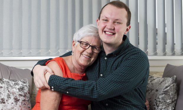 Jordan Bain and his granny Janet (Andrew Cawley / DC Thomson)