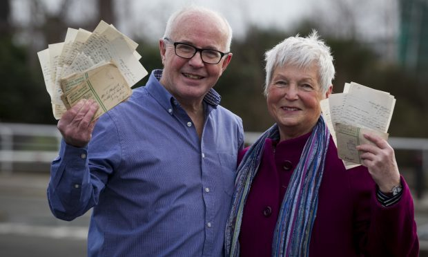 Brother and sister, Peter and Sue Mowforth, who have made up a book of love letters they found between their parents, Olga and Cyril, which were written while Cyril, was away fighting during WWII (Andrew Cawley)