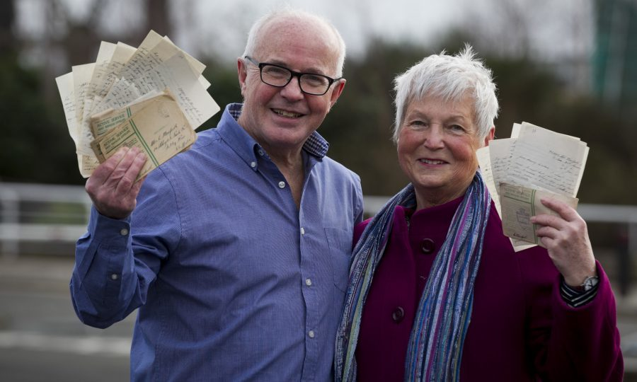 brother and sister peter and sue mowforth who have made up a book of
