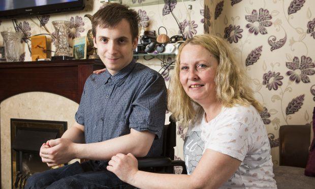 Mark Sweeney with mum Margaret (Jamie Williamson)
