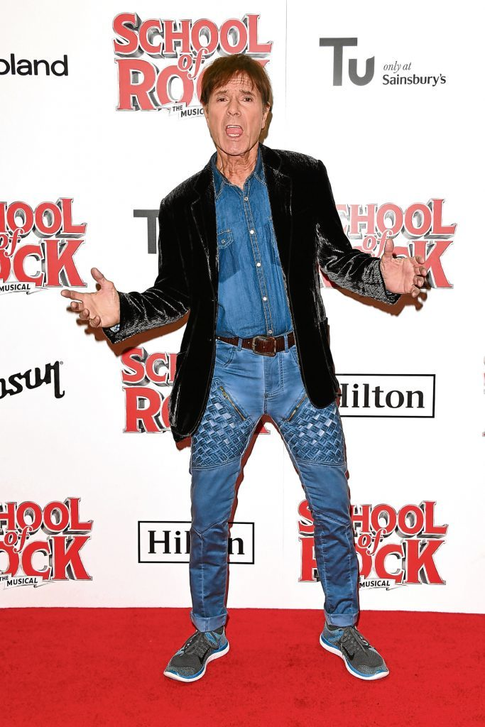 Cliff Richard attends the opening night of 'School Of Rock The Musical' (Stuart C. Wilson/Getty Images)