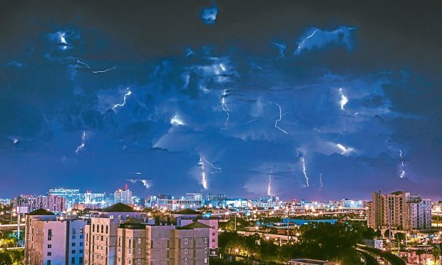 Electrical storm over Miami (Getty Images)
