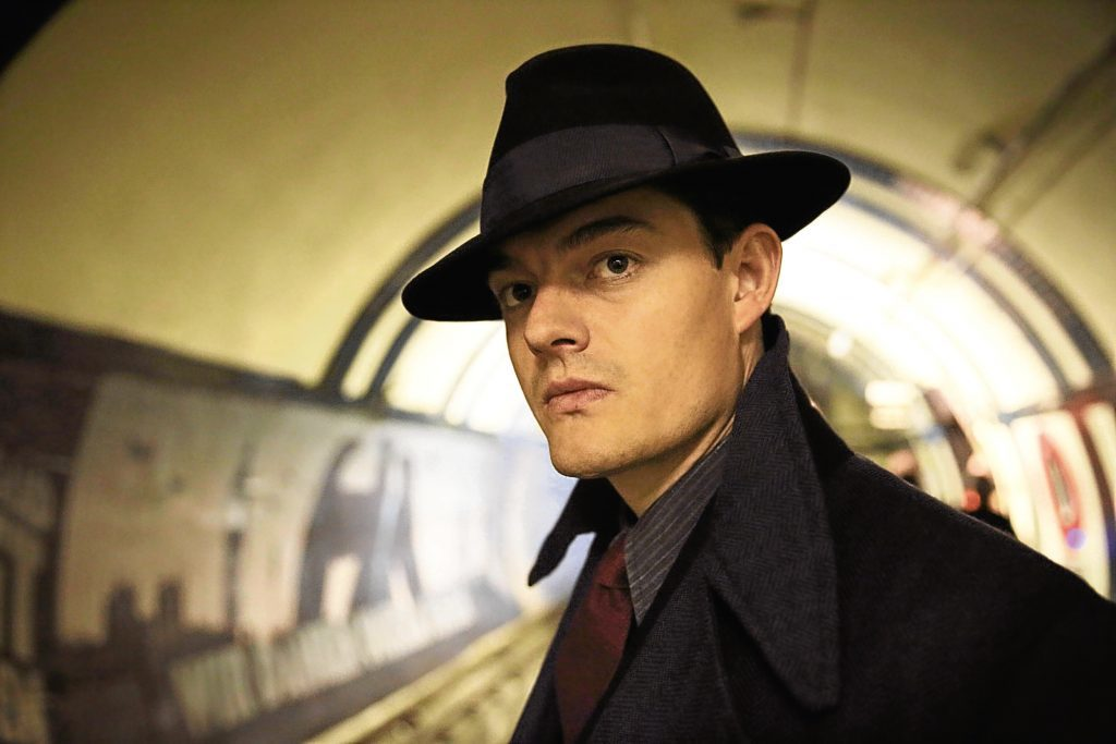 Sam Riley as Detective Superintendent Douglas Archer in the BBC1 drama SS-GB (Laurie Sparham/BBC/PA Wire)
