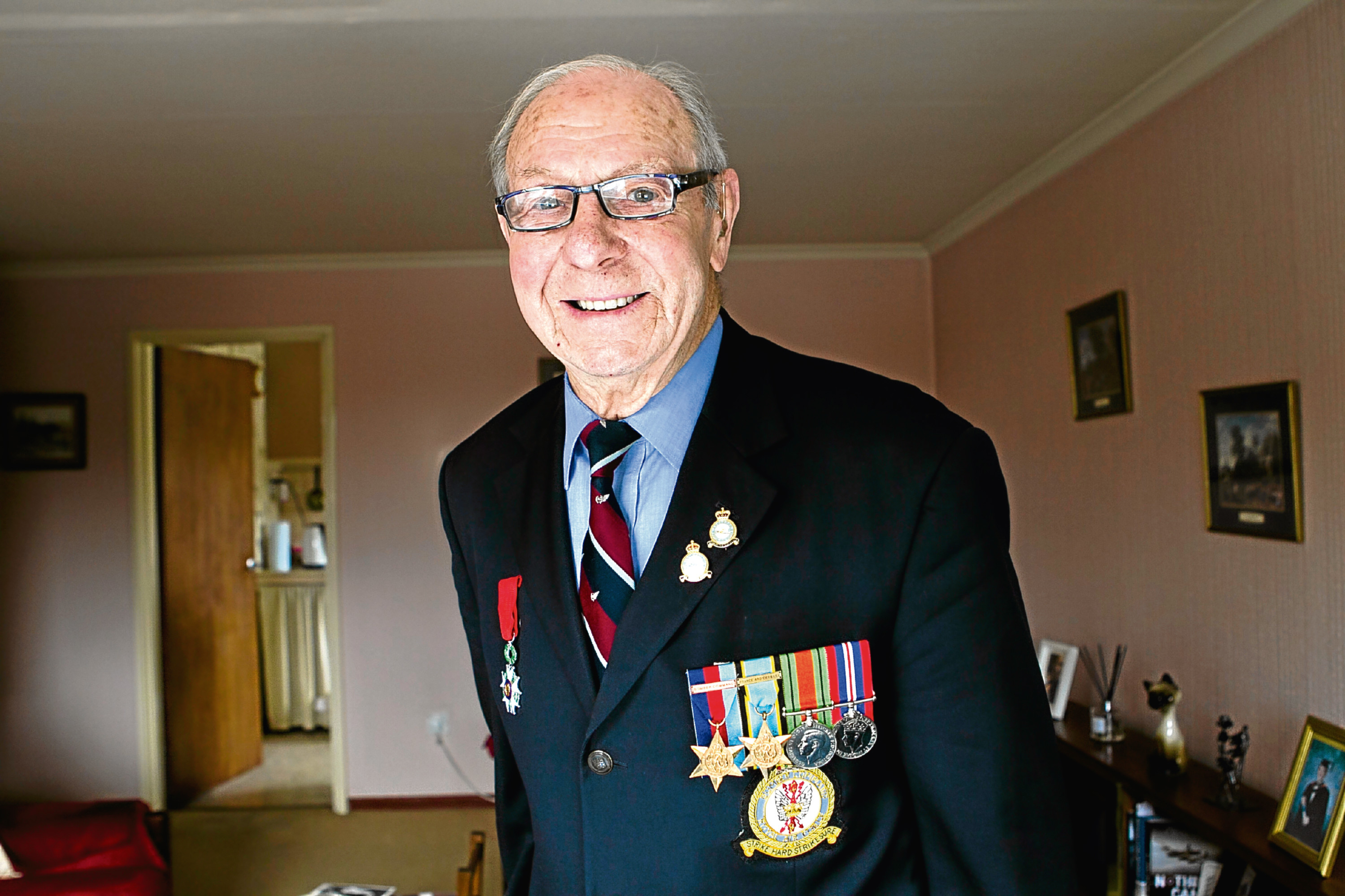 92 year old Geoffrey Payne, who was a rear gunner, flying Lancaster bombers during WWII (Andrew Cawley / DC Thomson)
