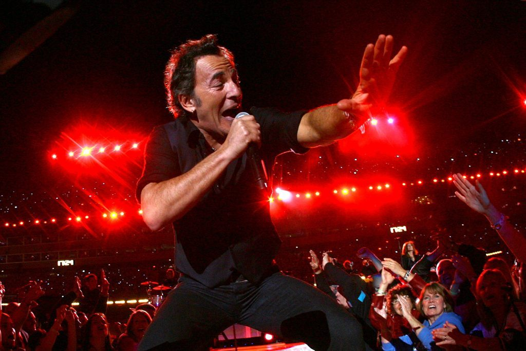 Bruce Springsteen and the E Street Band perform at Super Bowl XLIII (Jamie Squire/Getty Images)