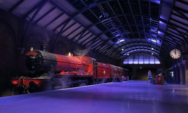 The original Hogwarts Express and recreation of Platform 9 3⁄4 (Mike Marsland/WireImage)