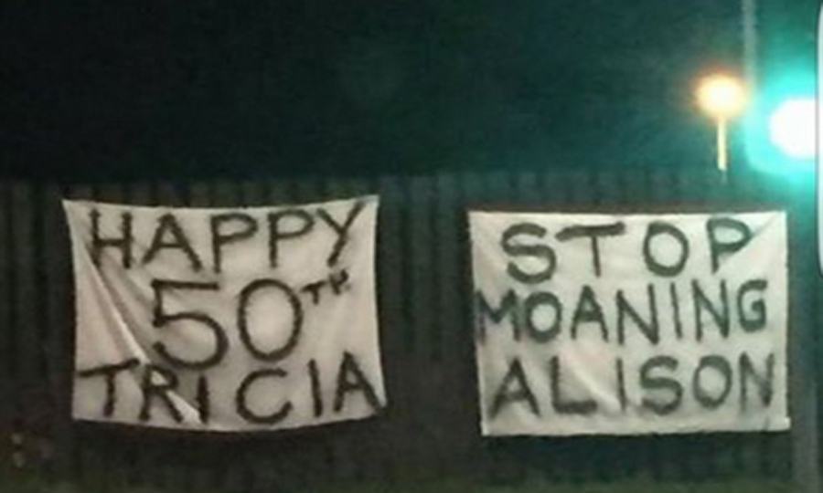 The birthday banners in Troon (Alan Murray / Facebook)