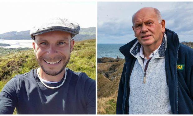 Jeremy Jackson (left), the father of Dominic Jackson who tragically died on a Kayaking trip from Portsony, Aberdeenshire (JasperImage.co.uk)
