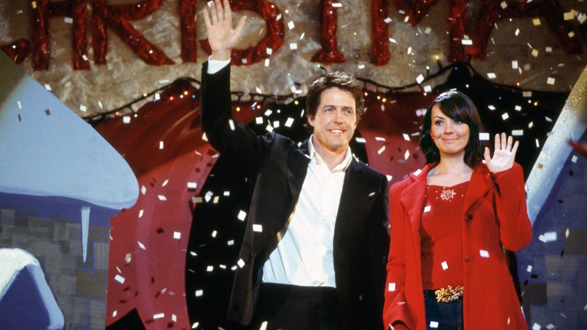 Hugh Grant and Martine McCutcheon in Love Actually