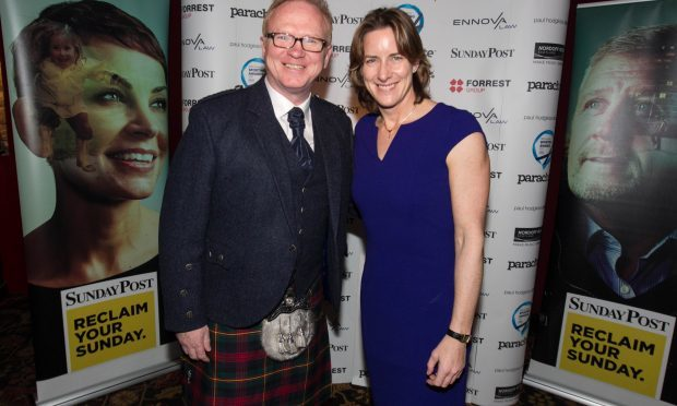 Alex McLeish and Dame Katherine Granger at the Nordoff Robbins Sporting Awards (Chris Austin / DC Thomson)