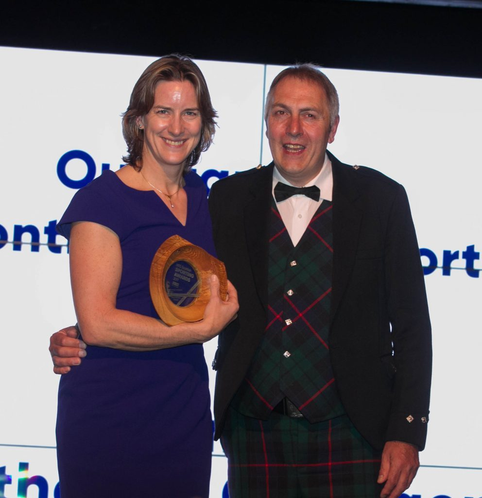Dame Katherine Grainger is presented with her award (Chris Austin / DC Thomson)