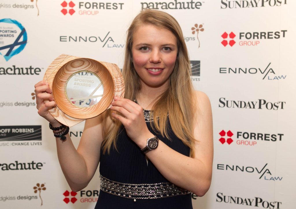 The first winner of the evening was skier Nicole Ritchie, who won the Action Sport Award (Chris Austin / DC Thomson)