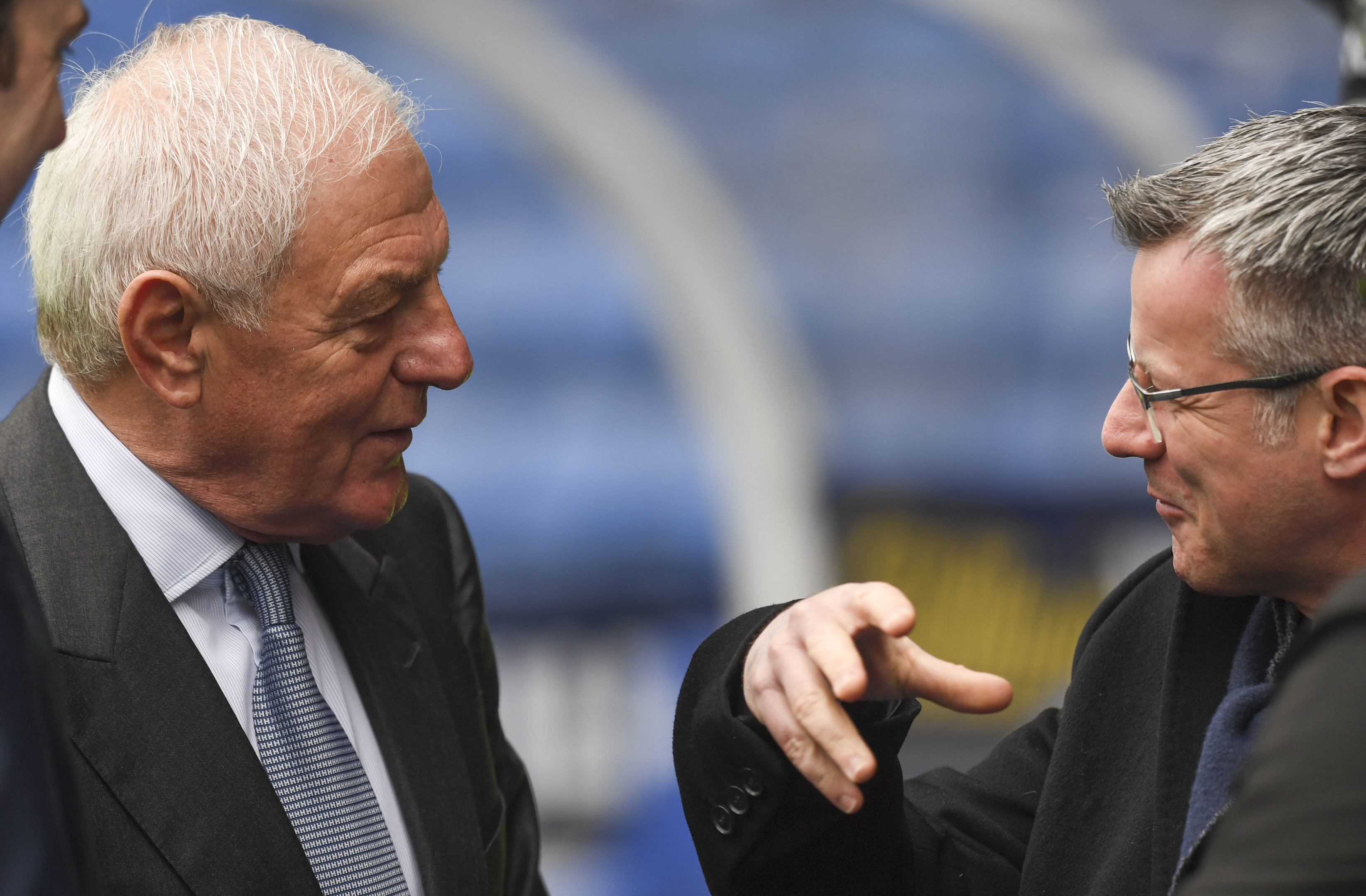 Walter Smith (left) with Rangers Managing Director Stewart Robertson at yesterday's cup clash with Hamilton (SNS Group)