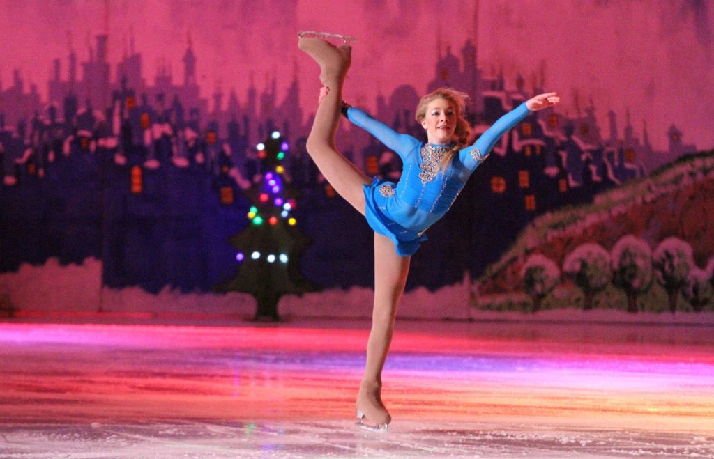 Junior British Champion Danielle Harrison performs her ice dance (G Jennings)