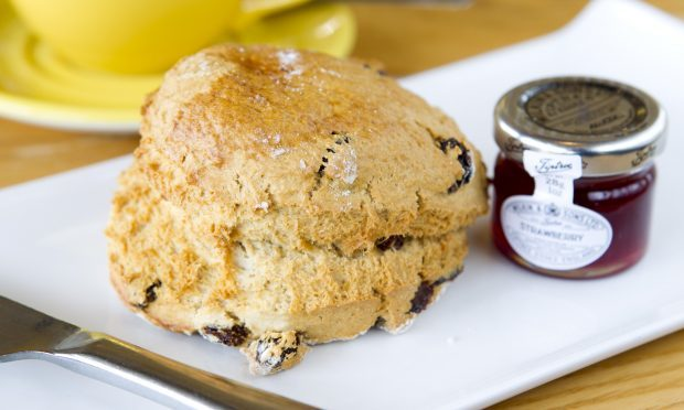 The delicious fruit scone at Glendoick (Andrew Cawley / DC Thomson)