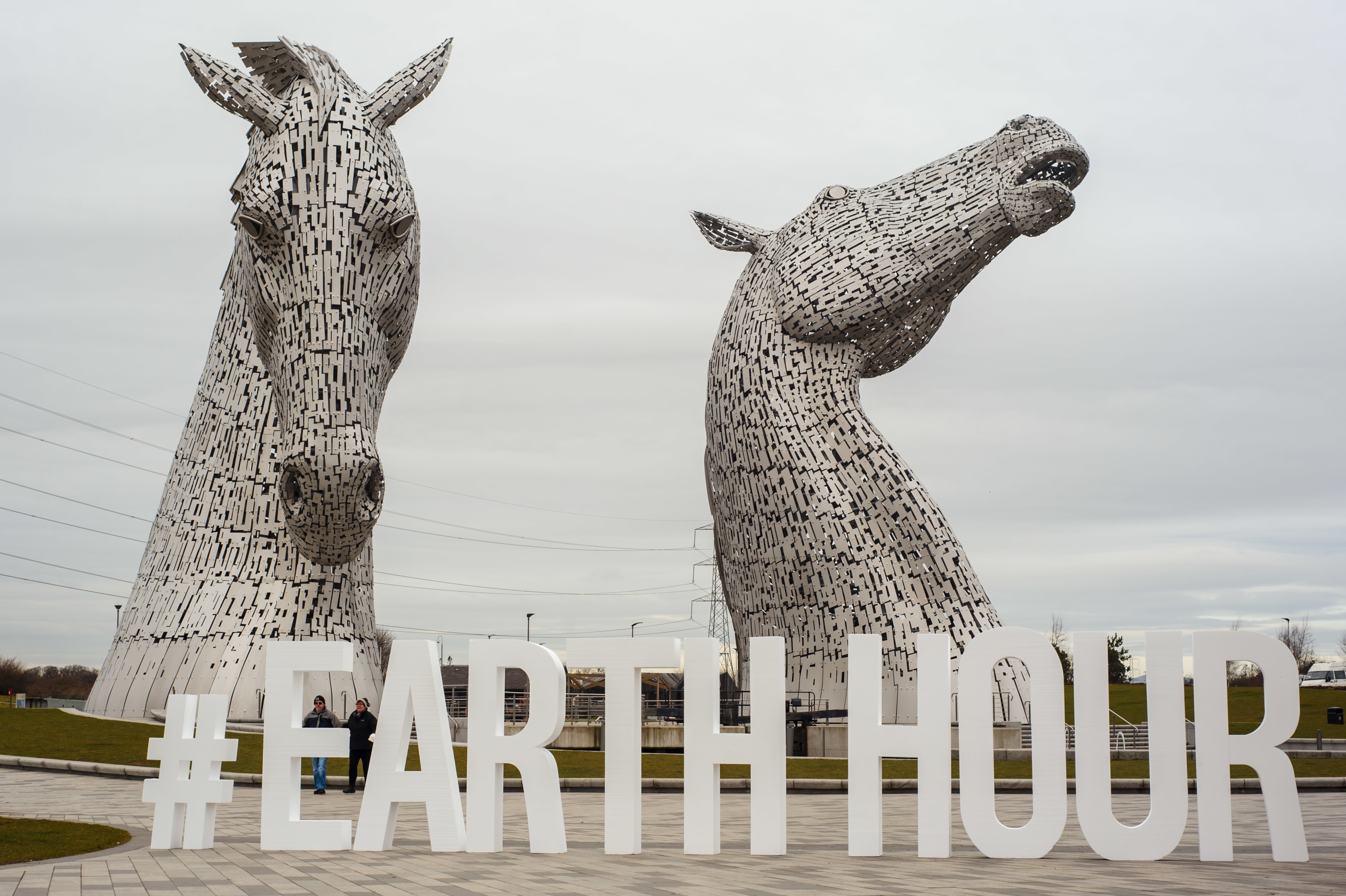 The Kelpies will be switching the lights off tonight (Maverick Photo Agency)