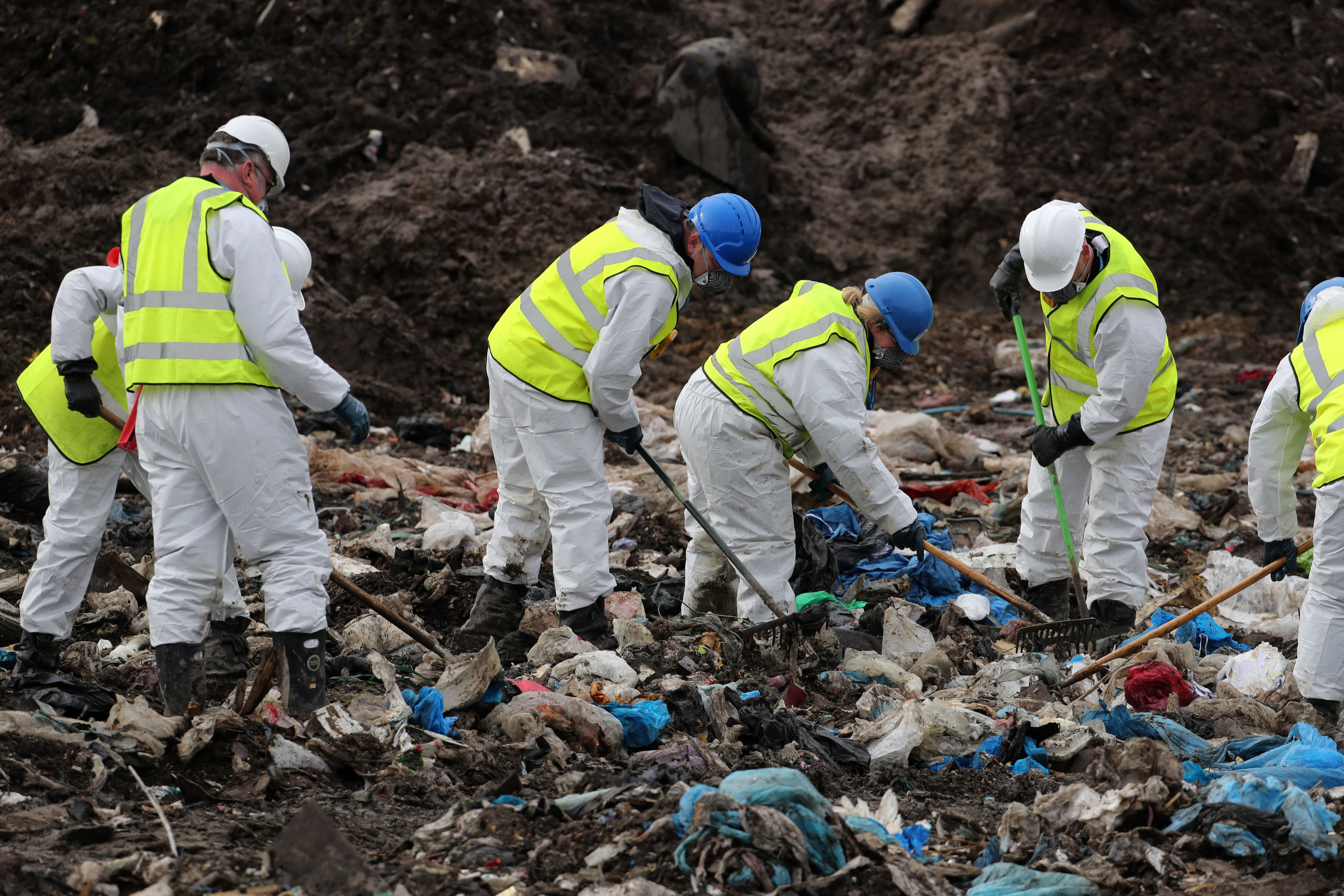 Police search a landfill site in Milton, Cambridgeshire, for missing RAF gunner Corrie McKeague (Chris Radburn/PA Wire)