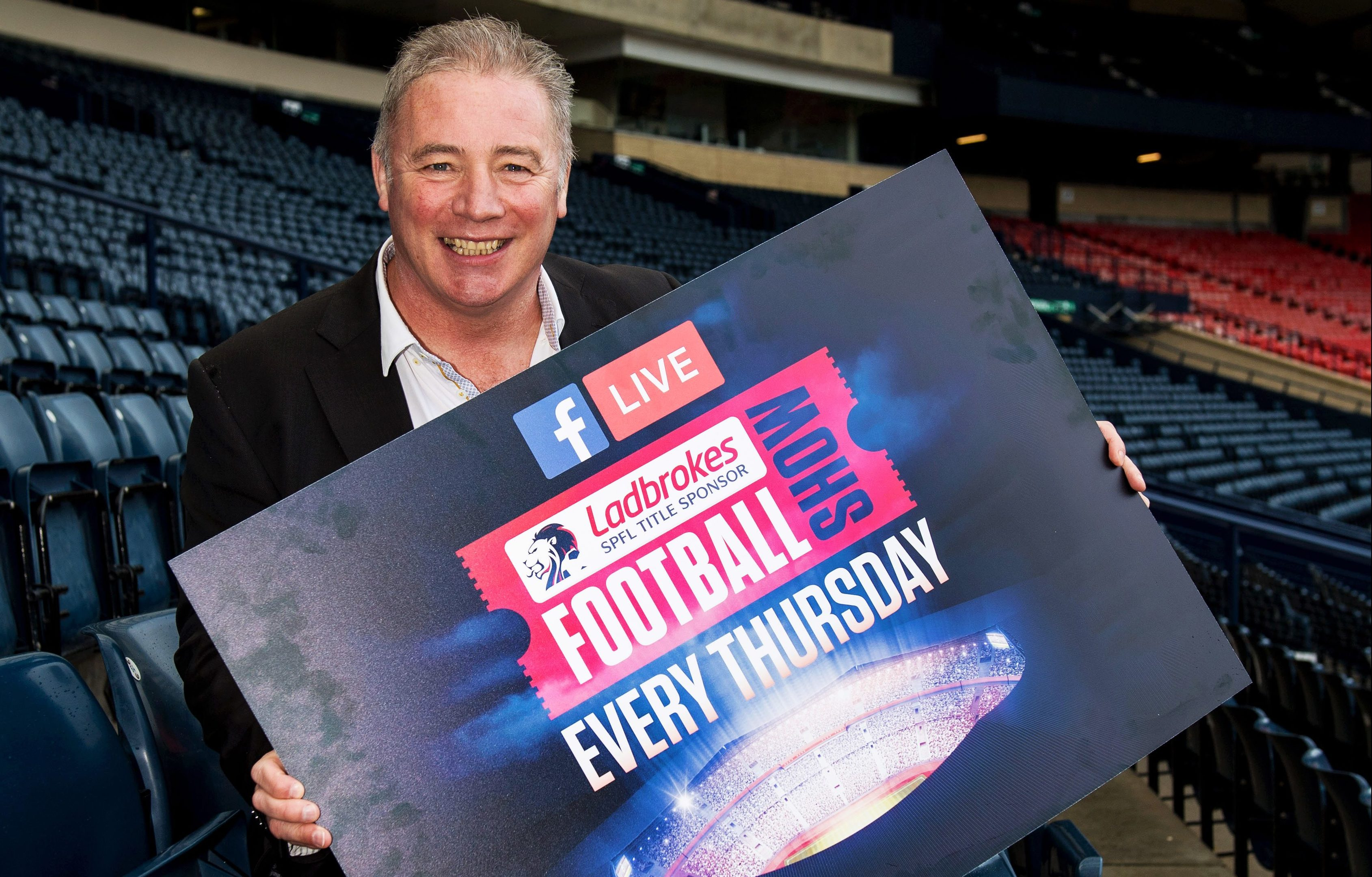 Ally McCoist promotes the launch of the Ladbrokes Football show (SNS Group)