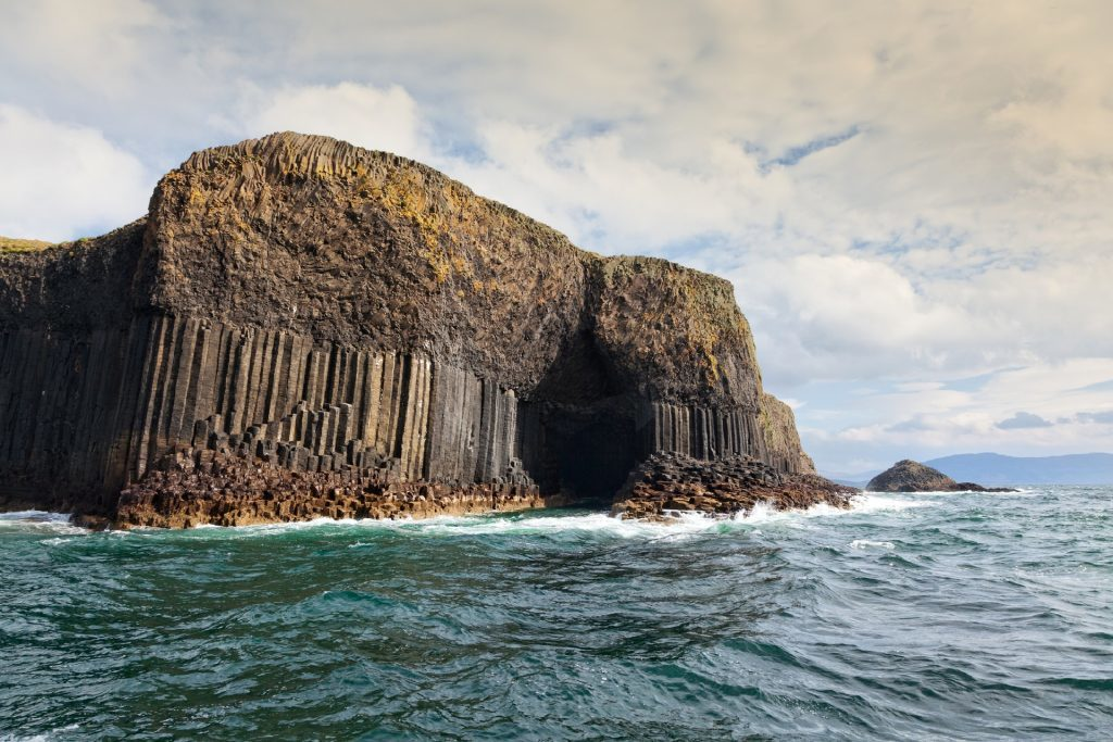 Staffa is an uninhabited island of the Inner Hebrides, Scotland. It's an entirely volcanic island,known for its unique geological features such as the many caves and the unique shape of the basalt columns which are also found in the Giant's Causeway in Northern Ireland (Getty Images/iStock)