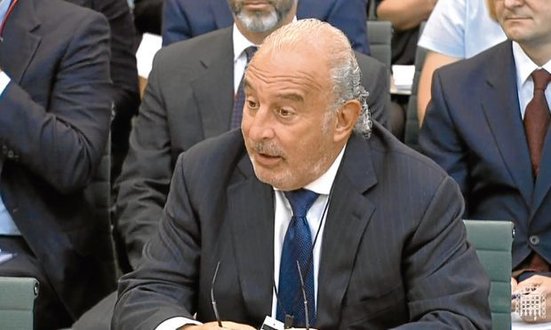 Sir Philip Green gives evidence to the Business, Innovation and Skills Committee and Work and Pensions Committee at Portcullis House, London, on the collapse of BHS.