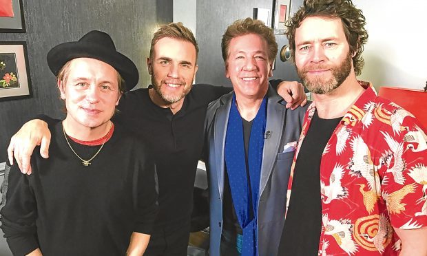 Ross King with Take That.