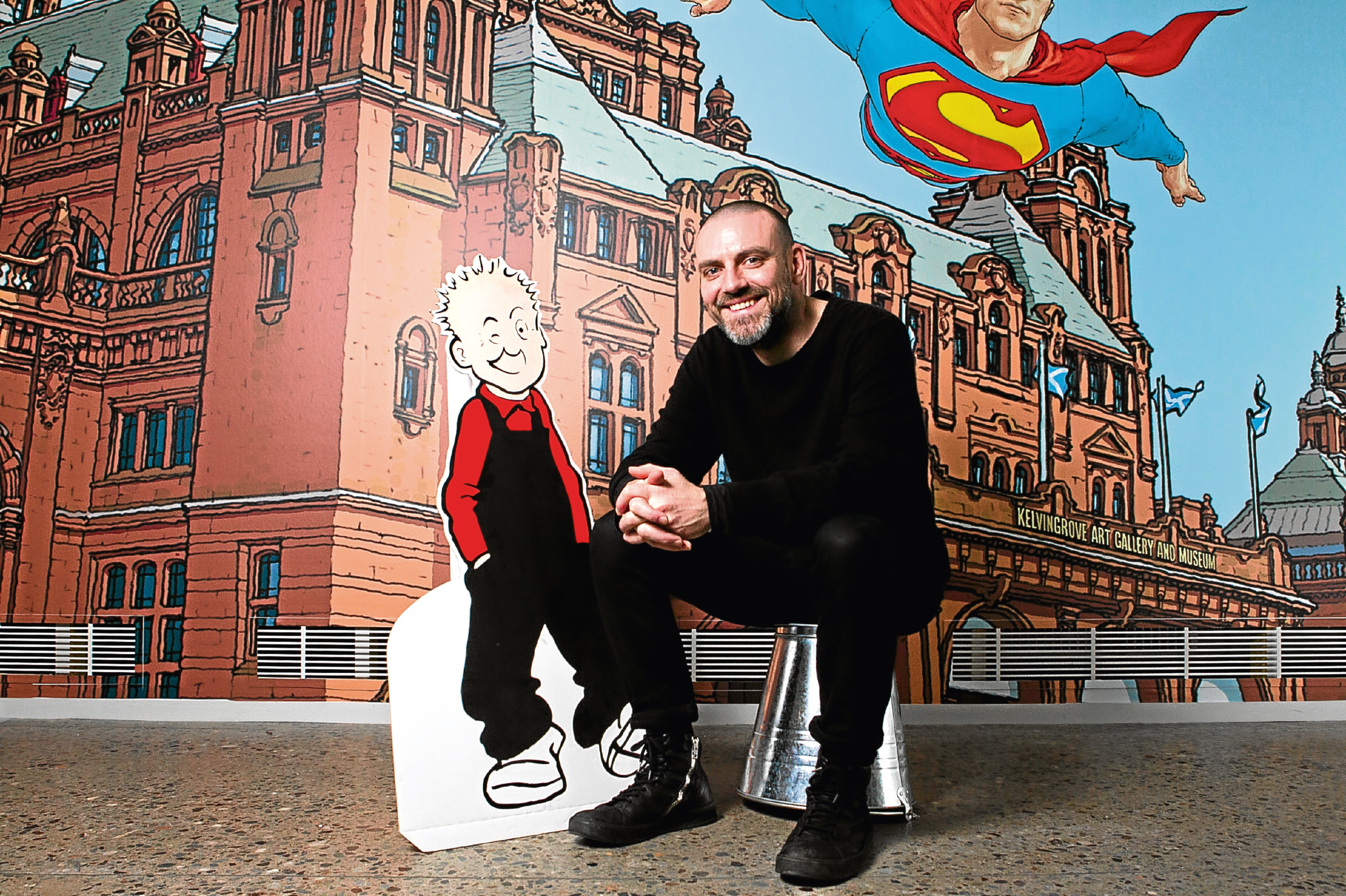 Vin Deighan, (aka Frank Quitely) was inspired by Oor Wullie and the Broons (Andrew Cawley / DC Thomson)