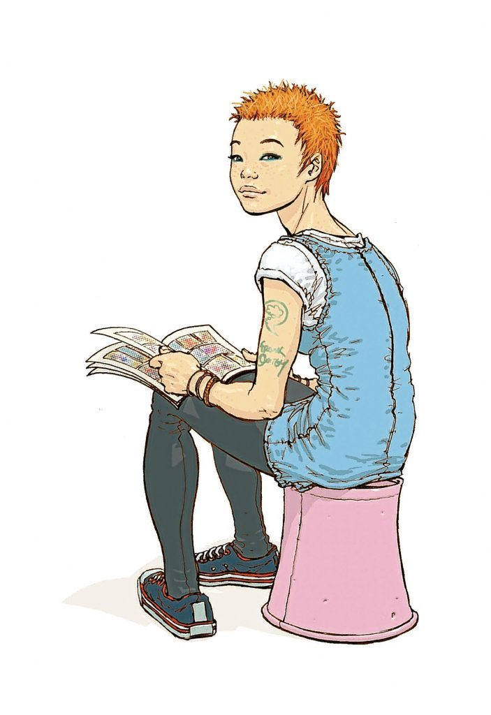 A female Oor Wullie by Frank Quitely
