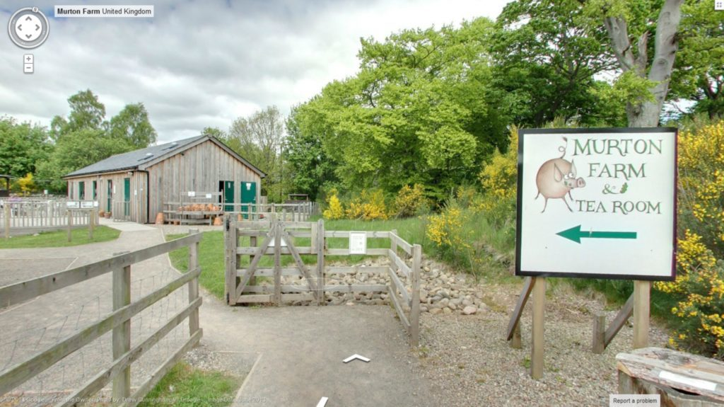 The entrance to Murton Farm in its Google virtual tour shot by Mr Droogle.