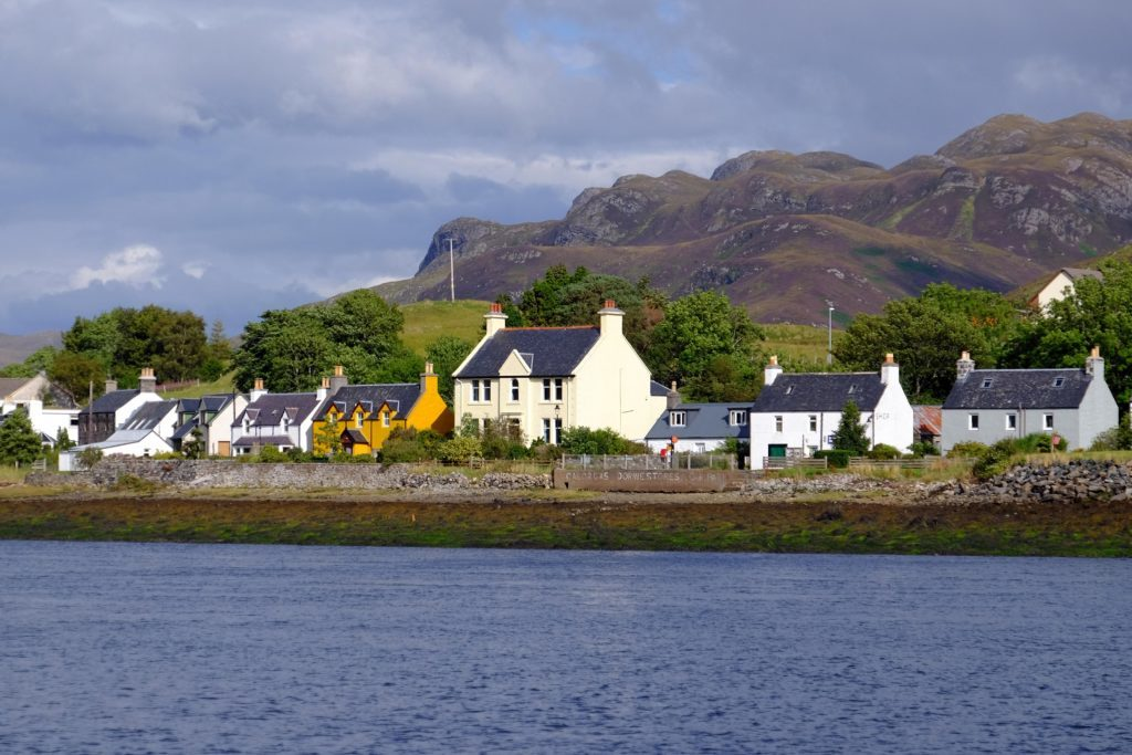 The village of Dornie in the West of Scotland