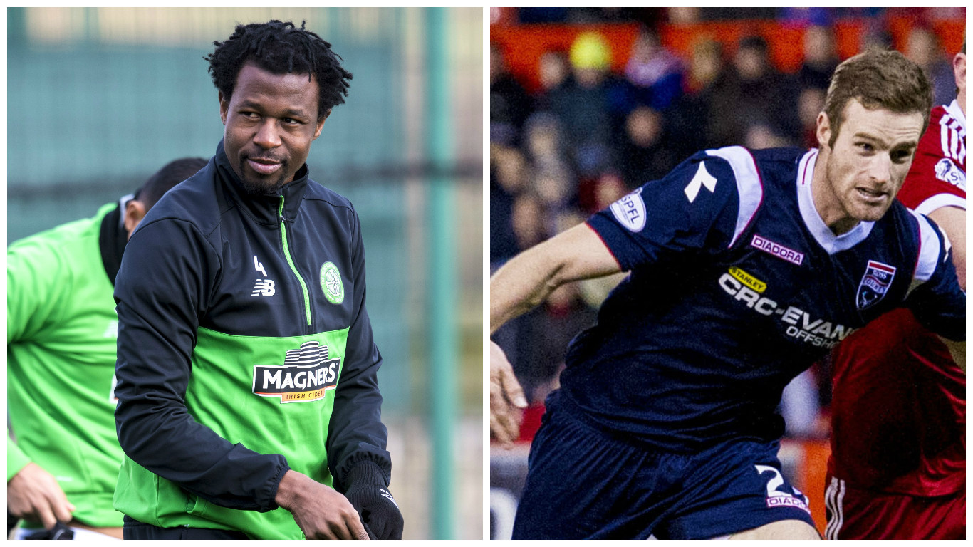 Efe Ambrose (left) and Brian McLean (SNS Group / Craig Williamson & Alan Harvey)
