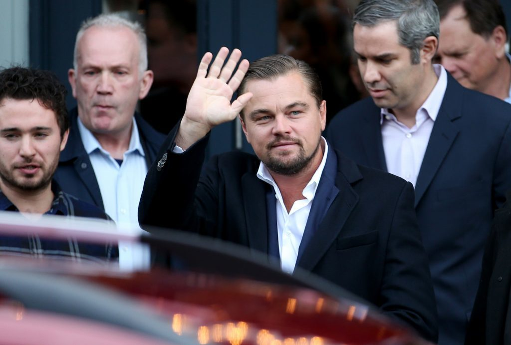 Leonardo DiCaprio leaves after a visit to Home by Social Bite sandwich shops in Edinburgh (Jane Barlow/PA Wire)