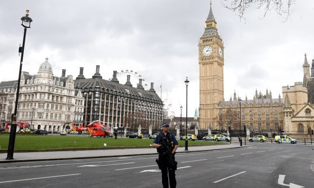Police outside the Palace of Westminster, London (Victoria Jones/PA Wire)