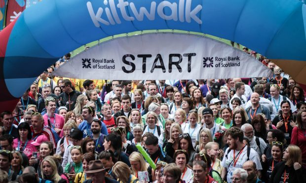 Last year's Royal Bank of Scotland Kiltwalk. (Royal Bank of Scotland Kiltwalk/PA Wire)
