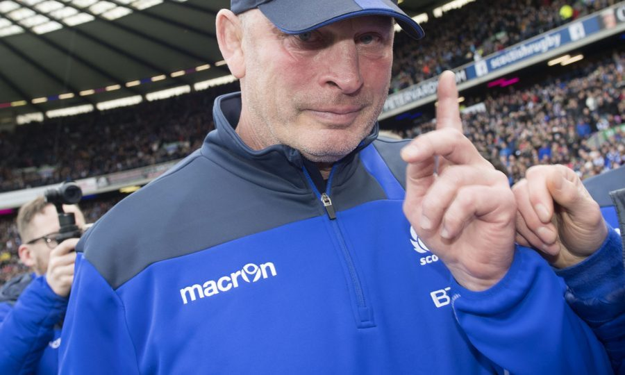 Departing Scotland head coach Vern Cotter shows emotion at the final whistle (SNS)