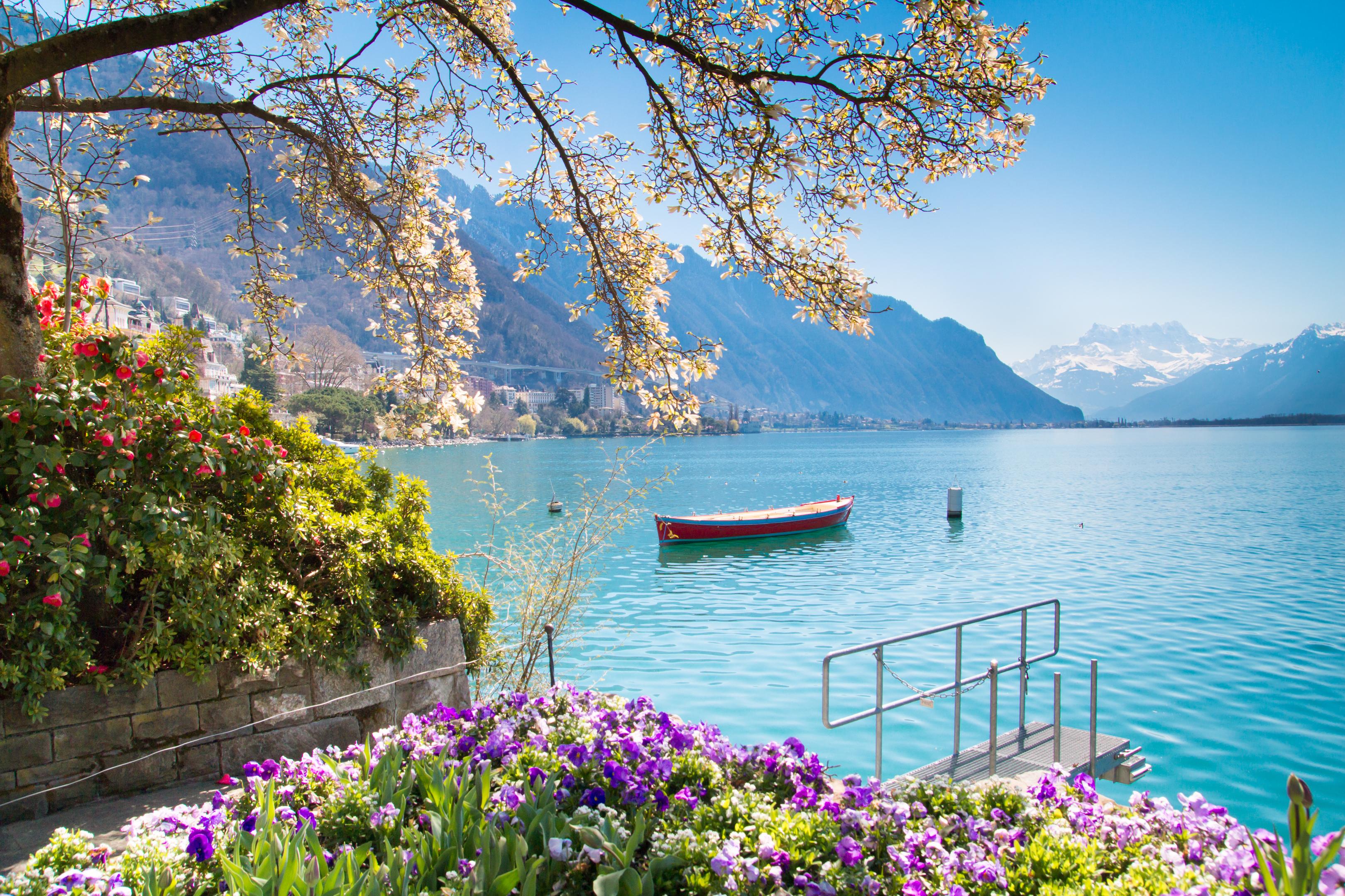 Swiss Riviera of Lake Geneva (Leman) in Montreux, Switzerland (iStock)