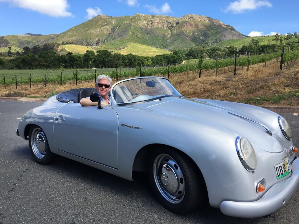 Phillip Schofield in a Porshe 356 Speedster on his South African adventure (ITV)