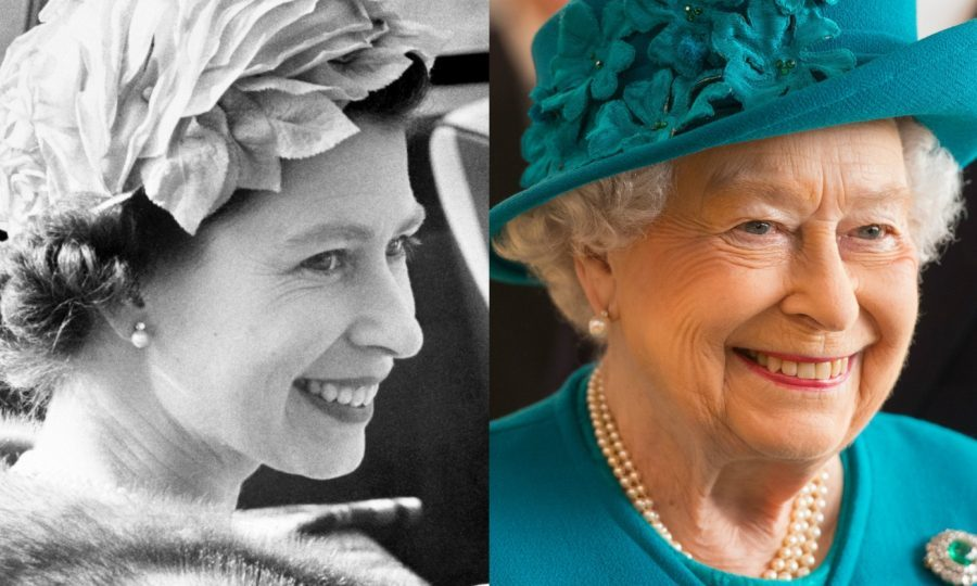 The Queen, then and now (PA)