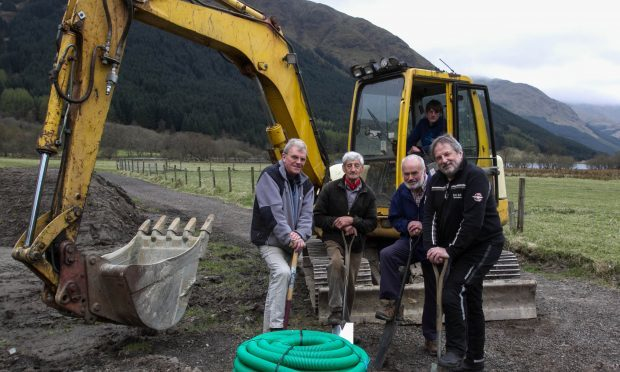 The locals get to work on laying the foundations (Chris Austin / DC Thomson)