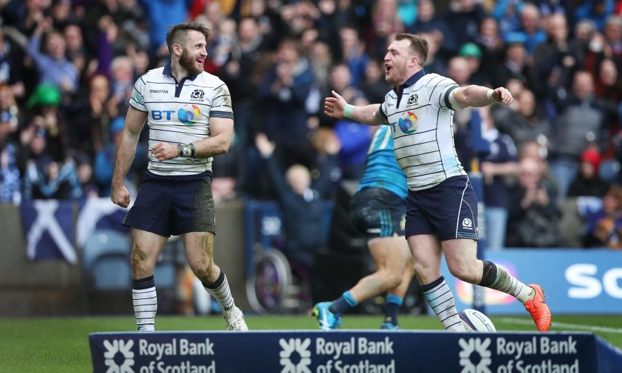 Tommy Seymour and Stuart Hogg ( Ian MacNicol/Getty Images)