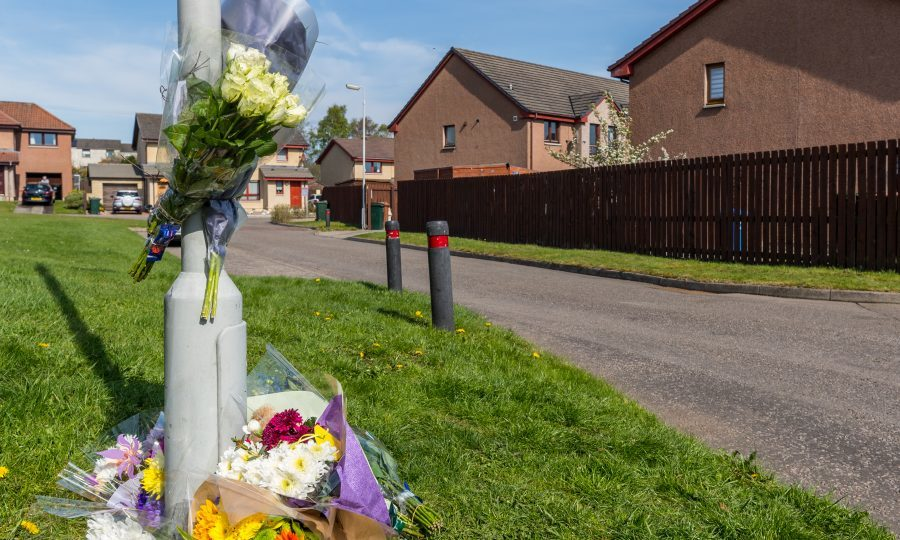 Floral tributes to the young boy (JasperImage.co.uk)