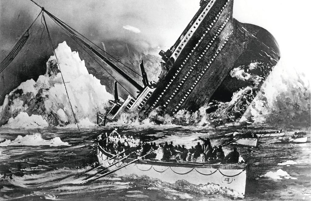Illustration showing the sinking of the Titanic (Popperfoto/Getty Images)