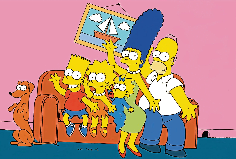 Character(s): Santa's Little Helper, Bart Simpson, Lisa Simpson, Marge Simpson & Homer Simpson (Allstar/20th Century FOX Television)
