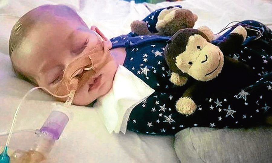 Doctors can withdraw life-support treatment from the baby with a rare genetic condition against his parents' wishes, a High Court judge has ruled. (Family handout/PA Wire)