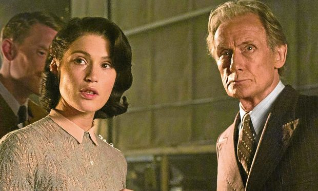Gemma Arterton and Bill Nigh in Their Finest (Allstar/BBC FILMS)