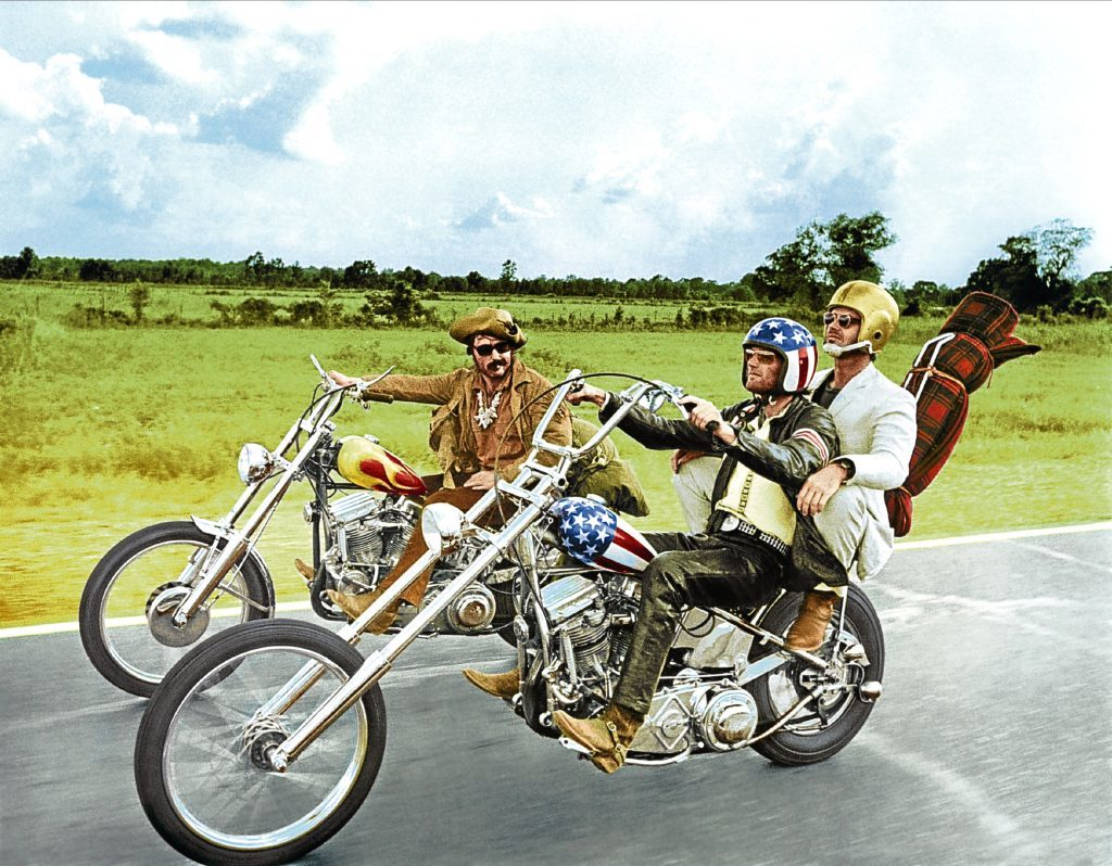 Jack with Dennis Hopper and Peter Fonda in Easy Rider (Allstar/COLUMBIA)