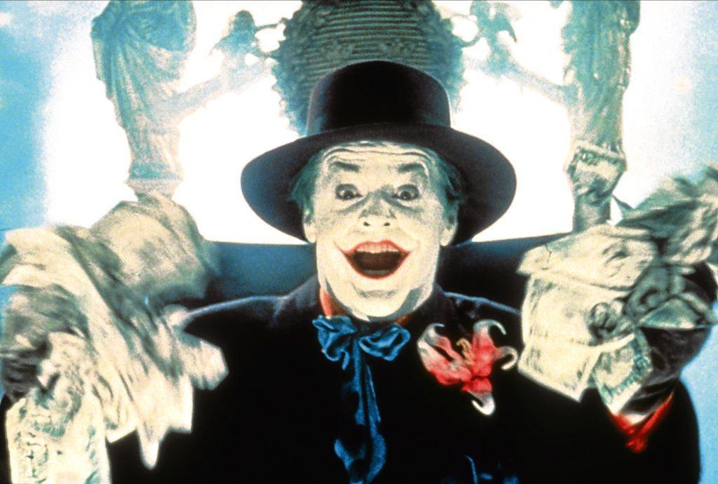 Jack Nicholson as The Joker in 1989's Batman (Allstar/WARNER BROS)